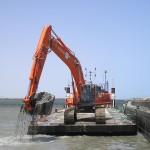 Excavation sous l'eau