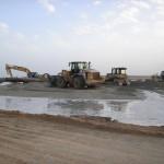 Travaux de remblai hydraulique