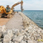 Réalisation des ouvrages de protection de la côte