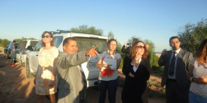 Visit of the Ambassador of the European Union  the site  of Taparura Project